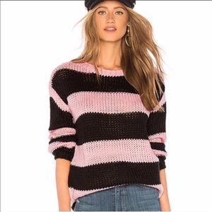 Lovers & Friends Amber Striped Sweater NWT